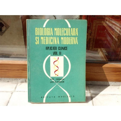 Biologia moleculara si Medicina moderna , Prof. O. Fodor , 1971 foto