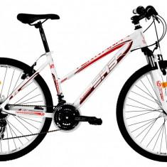 Bicicleta DHS Terrana 2622 (2016) Culoare Alb/Roz 420mmPB Cod:21626224291 - Mountain Bike DHS, 16.5 inch