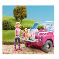 Rescue Hospital - Ambulanta cu figurine Ambulan?a 4x4 poate ajunge in orice loc pentru a trata animã