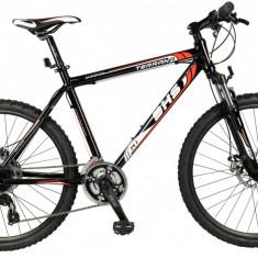 Bicicleta DHS Terrana 2627 Negru/Rosu - 457mm PB Cod:21526274562 - Mountain Bike DHS, 18 inch