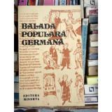BALADA POPULARA GERMANA ,TRADUCERE IONEL MARINESCU