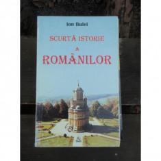 SCURTA ISTORIE A ROMANILOR - ION BULEI