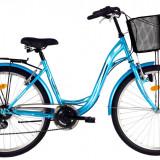 Bicicleta DHS Citadinne 2634 (2016) Culoare Bleau/Alb 480mmPB Cod:21626344839 - Bicicleta de oras DHS, 12 inch, Otel