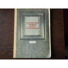 CONSEMNARI DESPRE ARTA ROMANEASCA - PETRE OPREA
