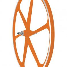 Roata Fata Fixa AeroWheels 700 Portocaliu NeonPB Cod:40704ANARM - Piesa bicicleta