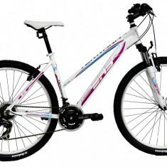 Bicicleta DHS Terrana 2722 (2016) Culoare Alb/Roz 457mmPB Cod:21627224591 - Mountain Bike DHS, 18 inch