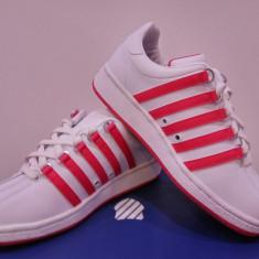 Adidas original KSwiss piele naturala. Livrare gratuita - Adidasi dama K-Swiss, Culoare: Alb, Albastru, Fuchsia, Negru, Roz, Marime: 34, 35, 36, 37, 38, 38.5, 39