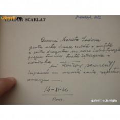 TEODOR SCARLAT - CLAVIATURI - 1936 - CU UN PORTRET DE BULGARU 64 PAG COPERTI ORIGINALE, CONTINE DEDICAT IE PENTRU ACTRITA LEGIONARA MARIETA SADOVA