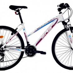 Bicicleta DHS Terrana 2622 (2016) Culoare Alb/Rosu 457mmPB Cod:21626224592 - Mountain Bike DHS, 18 inch