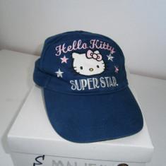 Sapca fetite 4-6 ani, Hello Kitty, bleumarin, stare foarte buna! - Sapca Copii