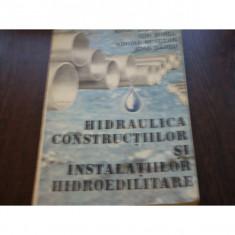 HIDRAULICA CONSTRUCTIILOR SI INSTALATIILOR HIDROEDILITARE