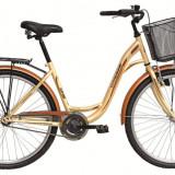 Bicicleta DHS Citadinne 2632 (2016) Culoare Crem/Maro 480mmPB Cod:21626324846 - Bicicleta de oras