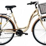 Bicicleta DHS Citadinne 2834 (2016) Culoare Bej/Maro 450mmPB Cod:21628344544 - Bicicleta de oras DHS, 11 inch, Otel