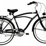 Bicicleta DHS Cruiser 2697 (2016) Culoare Negru 500mmPB Cod:21626975060 - Bicicleta de oras DHS, 13 inch, Otel