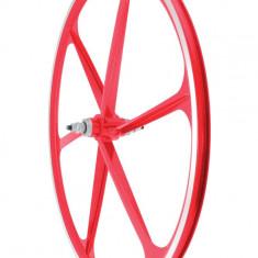 Roata Fata Fixa AeroWheels 700 RosuPB Cod:40704RARM - Piesa bicicleta