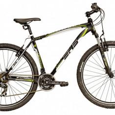 Bicicleta DHS Terrana 2923 (2016) Culoare Negru/Alb/Albastru 457mmPB Cod:21629234569 - Mountain Bike DHS, 18 inch