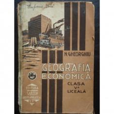 GEOGRAFIA ECONOMICA CLASA A V-A - N. GHEORGHIU
