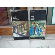 ARTA OCCIDENTULUI, 2 VOLUME, EVUL MEDIU ROMANIC, EVUL MEDIU GOTIC, HENRI FOCILLON - Carte poezie