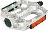 Pedale BMX Alu 112x105mm 540gr filet 1/2 ArgintiiPB Cod:421510370RM