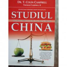 STUDIUL CHINA CEL MAI COMPLET STUDIU ASUPRA NUTRITIEI - Carte Dietoterapie