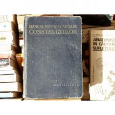Manual pentru calculul constructiilor , 1978