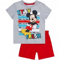Pijama de vara Disney Mickey gri/rosu