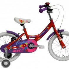 Bicicleta Copii DHS Duchess 1604 (2016) Culoare RosuPB Cod:216160420, 9 inch
