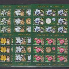 Minicoli Ceasul florilor II - Timbre Romania, Nestampilat