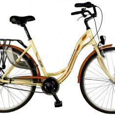 Bicicleta DHS Citadinne 2838 CuloareGalben 450mmPB Cod:21528384541 - Bicicleta de oras DHS, 11 inch, Otel