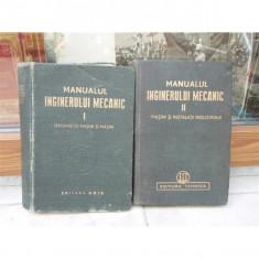 Manualul inginerului mecanic 2 volume, Remus Radulet, 1949 - Carte in alte limbi straine