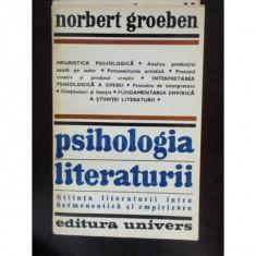 PSIHOLOGIA LITERATURII - NORBERT GROEBEN