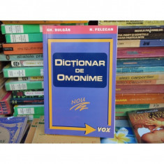 Dictionar de omonime, Gh. Bulgar, 2000 - Dictionar sinonime