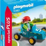 Baietel Cu Cart - Masinuta Playmobil