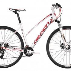 Bicicleta Devron Riddle Lady LH0.9 L 495/19.5 Crimson WhitePB Cod:216RL094992 - Mountain Bike Devron, Alb
