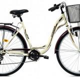 Bicicleta DHS Citadinne 2832 (2016) Culoare Crem/Negru/Maro 505mmPB Cod:21628325046 - Bicicleta de oras