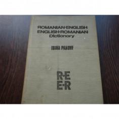 DICTIONAR ROMA ENGLEZ, ENGLEZ ROMAN - IRINA PANOVF