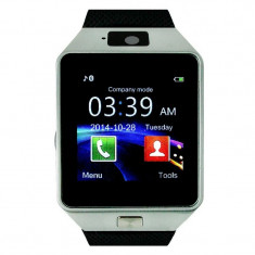 Ceas telefon smart watch DZ09 car SIM card TF camera foto NOU, Aluminiu, Android Wear