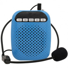 Amplificator Voce Albastru Si Microfon Cu Fir