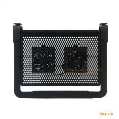 Stand notebook COOLER MASTER 17' - NOTEPAL U2 PLUS, 2* fan 80mm, 1* USB, plastic & aluminiu, black ' - Masa Laptop
