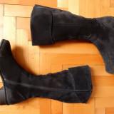 Cizme piele naturala Durea; marime 6 (26.5 cm talpic); 40 cm inaltime - Cizma dama, Culoare: Din imagine, Marime: Alta
