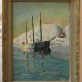 Impresionant Tablou in Ulei, Peisaj Marin, Semnat Stig Bjorklund! - Pictor strain, Marine, Realism