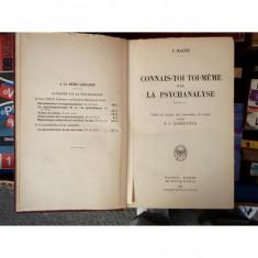 Connais-toi toi meme, La Psychanaliyse, J. Ralph, 1924
