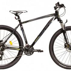 Bicicleta DHS Terrana 2727 (2016) Culoare Negru/Gri/Verde 457mmPB Cod:21627274567 - Mountain Bike DHS, 18 inch