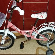 Bicicleta copii DHS MissFourteen, 10 inch, 14 inch, Numar viteze: 1