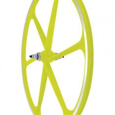 Roata Fata Fixa AeroWheels 700 Galben NeonPB Cod:40704YNARM - Piesa bicicleta