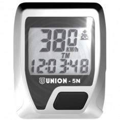 Kilometraj Union 5 Functii cu Fir Alb/NegruPB Cod:588040215RM - Accesoriu Bicicleta