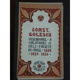 INSEMNARE A CALATORIEI MELE IN ANII 1824-1826