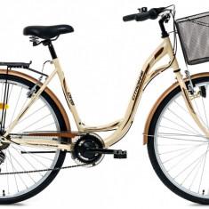 Bicicleta DHS Citadinne 2832 (2016) Culoare Bej/Maro 505mmPB Cod:21628325044