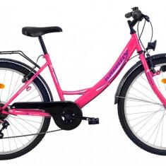 Bicicleta Kreativ 2614 (2016) culoare RozPB Cod:216261411 - Bicicleta de oras, Otel