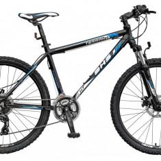 Bicicleta DHS Terrana 2627 Negru/Albastru - 495mm PB Cod:21526274963 - Mountain Bike DHS, 19.5 inch